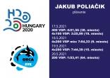 ME Budapest / Jakub Poliačik / výsledky