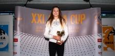 Najlepší bodový výkon v kategórii K2 ženy - Lea Kmošenová, 200m vsp, 681 bodov